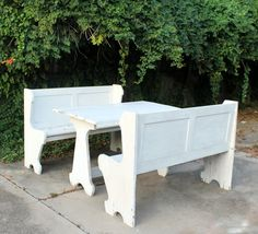 white benches and matching white table.jpg