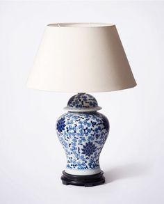 Hamptons Blue & White Lamp | Porcelain | Bowerbird Home