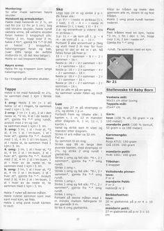 Album Archive - Dukketøj til Baby Born 2 - Ingelise Knitted Doll Patterns, Knitted Dolls, Doll Clothes Patterns, Baby Knitting Patterns, Clothing Patterns, Baby Born Clothes, Album, Archive, Paper Dolls