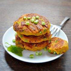 Share on Tumblr Chickpea (or garbanzo) sweet potato patties are a tasty veggie alternative to meat burgers. Serve these low fat cakes in burger buns or wrapped in lettuce and drizzled with ketchup or sweet chilli sauce. Chickpea And Sweet Potato Patties   Print Serves: 4 Ingredients ¾ pound (800 g) sweet potatoes, peeled and...Read More »