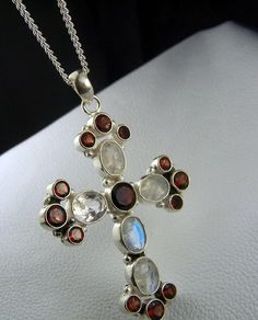 Cross  Pendant  necklace  focal Bead  Rainbow by CoyoteRainbow, $40.00