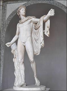 """L'Apollon du belvédère. In English known as """" Apollo Belvedere"""""""