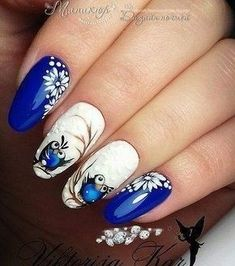 81 Best Stunning Royal Blue Nails Inspirational Art Design For Prom - Page 11 of 81 - Diaror . 81 Best Stunning Royal Blue Nails Inspirational Art Design For Prom - Page 11 of 81 - Diaror Diary Owl Nails, Xmas Nails, Christmas Nails, Holiday Nails, Christmas Decor, Elegant Nail Art, Beautiful Nail Art, Trendy Nails, Cute Nails