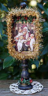 Vintage Christmas altered Altoid tin, by Susan @ Killam Creative.