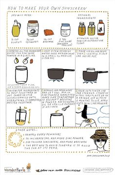 How to Make Your Own Non-Toxic Sunscreen at Home « The Secret Yumiverse Homemade Sunscreen, Natural Sunscreen, Simple Life Hacks, Useful Life Hacks, Homemade Beauty, Diy Beauty, Do It Yourself Food, Health And Fitness Articles, Health Tips