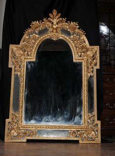 French Louis XV Rococo Gilt Pier Mirror Mirrors