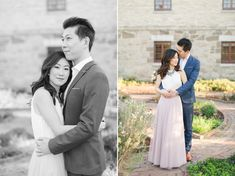 Formal Navy Suit and Blush Tulle Skirt Maymont Engagement Pictures in Richmond, VA | by Katelyn James Photography