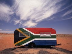 Food Trailer Painted with South African Flag Motif Photographic Print #projectza #capetown #southafrica