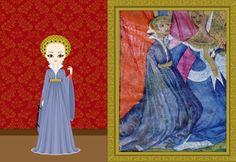 Katherine Swynford, Duchess of Lancaster as te wife of Jphn the Gaunt. c. 1370