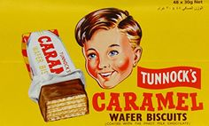 Tunnock Milk Chocolate Coated Caramel Wafer Biscuits 30 g (Pack of Chocolate Wafers, Chocolate Biscuits, Chocolate Coating, Tunnocks Tea Cakes, Caramel Biscuits, Ex Quotes, Retro Sweets, Food Labels, Vintage Ads