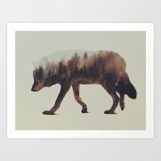 Norwegian Woods: The Wol… Art Print