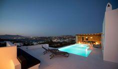 Luxury Villa Rental Site in Greece. The Greek Villas with Handpicked Luxury Villas in Greece's most stunning villa destinations. Luxury Villas In Greece, Mykonos Villas, Urban Fabric, Luxury Villa Rentals, Lean To, Vacation Villas, Luxurious Bedrooms, Lodges, Sun Lounger