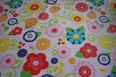 Riley Blake Lazy Day Baumwollstoff Blumen Blüten von Rotznaeschenmode auf DaWanda.com