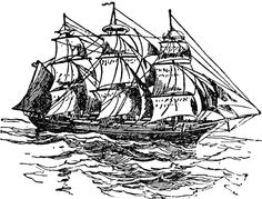 The name applied in a restricted sense to a large vessel with bowsprit and three masts, each of which carries square sails, but in an extended sense to vessels adapted for navigation, including all kinds except boats.