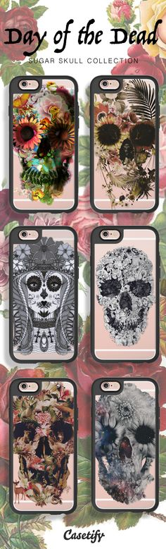 Celebrate Day of the Dead with these beautiful Sugar Skull phone case designs. Shop them here: http://www.casetify.com/artworks/vW6McCWgcM
