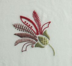 a simple but beautiful flower design for hand embroidery