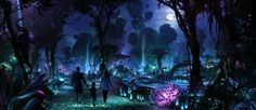 Disney is taking people into Pandora's rainforest to see bioluminescent plants