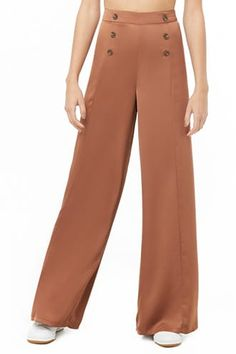17d44aa756186c Double-Breasted Wide-Leg Pants Wide Leg Pants