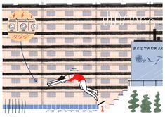 Nikola Logasová,  ilustrace pro Nový prostor, New York zine, autorská kniha Řecký návrat