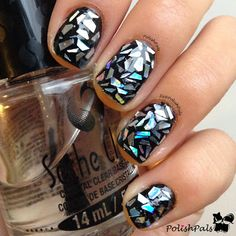 Shattered Glass Nail-Art ♥≻★≺♥