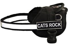 DT Works Fun Harness, Cats Rock, Black/White, Large - Fits Girth Size: 34-Inch to 47-Inch >>> For more information, visit image link. (This is an affiliate link and I receive a commission for the sales)