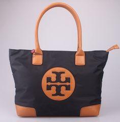 beautiful tory burch NYLON TOTE bag black