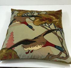 Mulberry Flying Ducks In Velvet A Stunning by MayEvelyneInteriors