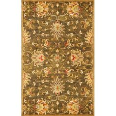 Syriana Emerald Green Agra Rectangular: 5 Ft. X 8 Ft. Rug Kas Oriental Rugs Area