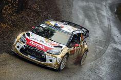 """Coming back to life - Retour à la """"vraie vie"""" du rallye pour le français Sébastien Loeb et le monégasque Daniel Elena, nonuples champions du monde des rallyes, à l'occasion (unique) du Rallye de Monte-Carlo 2015 sur une DS 3 WRC, pendant le Shakedown se déroulant à Châteauvieux (Hautes-Alpes)."""