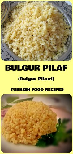 Bulgur pilaf is a very easy to make recipe, it's as delicious as rice pilaf and it's more healthy choice because it contains less carbs. Tabbouleh Recipe, Bulgur Salad, Chickpea Salad Recipes, Couscous, Rice Recipes, Healthy Recipes, Cooking Recipes, Moussaka Recipe, Turkish Recipes