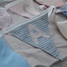 Sweet bunting for baby; a beautiful addition to any nursery or for new baby or Christening celebrations. From £15