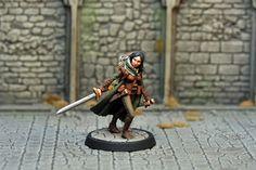 DAH17 – Human Female Ranger   Otherworld Miniatures