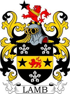 The four main devices (symbols) in the Lamb blazon are the  cinquefoil, mullet, lion and paschal lamb. The three main tinctures (colors) are  erminois, or and sable . Ermine and its variants is a very ancient pattern. It has a long association with royalty and the nobility in general and hence