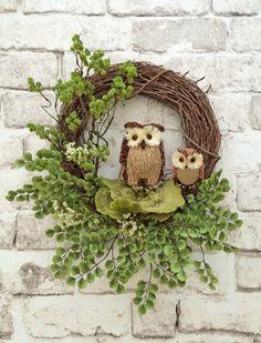 Owl Wreath, Fall Wreath for Door, Front Door Wreath, Fall Door Wreath, Fall Grapevine Wreath, Outdoor Wreath, Autumn Wreath, Fall Decor,Etsy by AdorabellaWreaths on Etsy https://www.etsy.com/listing/247673931/owl-wreath-fall-wreath-for-door-front
