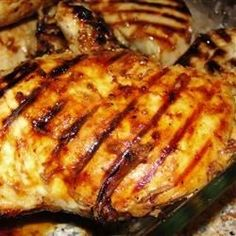 Juicy, with just a touch of mellow sweetness and a bite of flavor - really, really good chicken recipe!