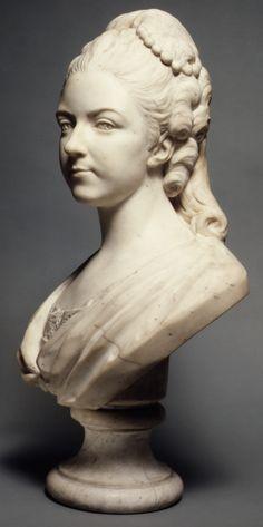 Félicité Sophie de Lannion, Duchesse de La Rochefoucauld, at the Age of 29 Years (1745–1830) ~Jean-Baptiste Lemoyne the Younger (French, Pa...