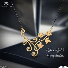 Buy Mohini Gold Mangalsutra are available in a variety of designs and styles. Buy Expensive Simple Black Beads Mangalsutra Chains with Gold Pendants Online from our online stores today. Gold Mangalsutra Designs, Gold Jewellery Design, Gold Jewelry, Beaded Jewelry, Men's Jewellery, Designer Jewellery, Diamond Jewellery, Jewelry Rings, Jewelery