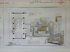 Interior Design Sketches, Sketch Design, Architectural Presentation, Presentation Design, Ds, Skate, Perspective, Art Gallery, Floor Plans
