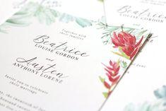 Summer Wyoming Wedding — Paper by JLee Custom Stationery, Custom Invitations, Invitation Cards, Indian Paintbrush Flowers, California Poppy, Wedding Invitation Suite, Wedding Paper, Save The Date Cards, Wyoming