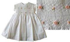 Love this baby dress with bullion daisies.