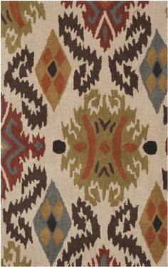 MAT5436, Parchment, Hand Tufted, Surya Rug Co., Ikat available from rugsdoneright.com