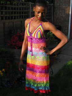 Vestido de ganchillo hecho a mano. por TIMELESSTRADE en Etsy