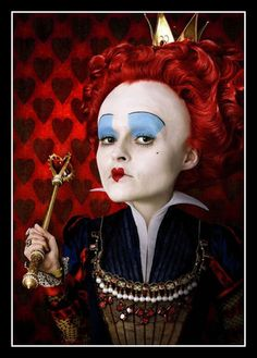 "Helena Bohem Carter as the Red Queen in ""Alice in Wonderland""."