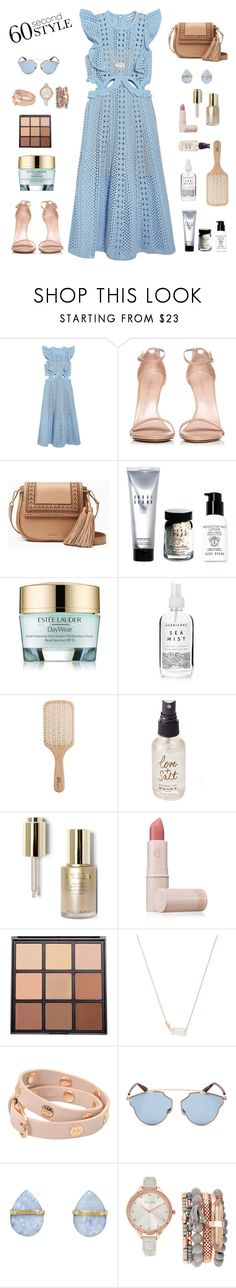 """Sin título #1563"" by solespejismo ❤ liked on Polyvore featuring self-portrait, Stuart Weitzman, Kate Spade, Bobbi Brown Cosmetics, Estée Lauder, Herbivore, Philip Kingsley, Olivine, Stila and Lipstick Queen"