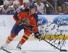 """""""To Doc, thanks for all your help!"""" Your friend Ed Jovanovski #55 NHL Florida Panthers http://panthers.nhl.com/club/player.htm?id=8460492"""