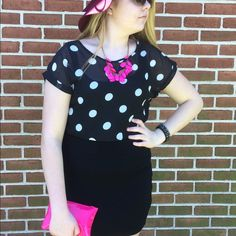 Stylish Polka Dot Crop Top WEEKEND SALE This is a sheer crop top that is truly adorable! This shirt is 17 inches long and 18 inches wide. Same day shipping and smoke free home. 100% cotton and made in China. ⭐Bundle to save   ⭐️ Use the offer button ⭐️Same day shipping ⭐️ Smoke free home Last Kiss Tops Crop Tops