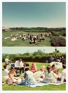 Picnic style wedding reception - [Let me just go one step further - There has to be tables and chairs for the elderly, plus, why would I sit on the grown on my Wedding Day? Bohemian Bride, Bohemian Wedding Dresses, Boho Wedding, Wedding Reception, Bohemian Weddings, Wedding Summer, Summer Weddings, Party Wedding, Tea Party