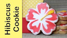 How to make hibiscus cookies - Airbrushed cookies Moana Cookies, Luau Cookies, Flower Cookies, Cupcake Cookies, Cookie Tutorials, Video Tutorials, Make Your Own Stencils, Cookie Designs, Cookie Ideas