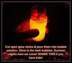 Glow in the dark bubbles. wonder if it legit works? that is like the coolest thing eva
