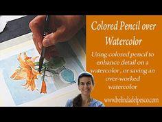Art Lesson: Colored Pencil over Watercolors